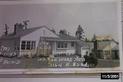 The Valaas house as it looked originally in the 1940s (it has since been remodelled.)