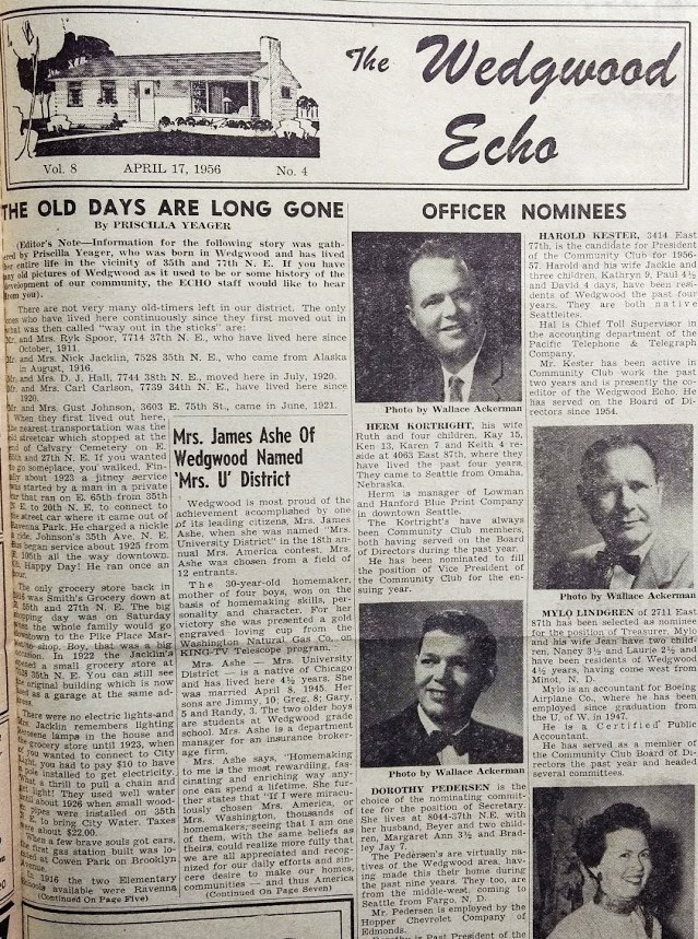 Wedgwood Echo.April 17 1956 page 1