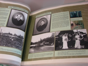 A page from Meadowbrook history: the display book in the lobby of the Meadowbrook Community Center building.