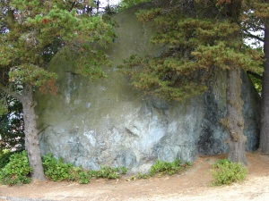 Wedgwood Rock, located at 7200 28th Ave NE in Seattle, was called Lone Rock in 1881 when a group of early Seattle settlers gathered for a Fourth-of-July picnic.