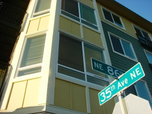 The Jasper apartment building at 8606 35th Ave NE opened in July 2012.