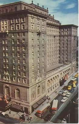 Olympic Hotel in the 1950s.Seneca Avenue entrance