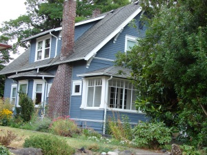 In 1955 the VanderWel house was moved from the present parking lot of Chase Bank, to 7308 38th Ave NE.
