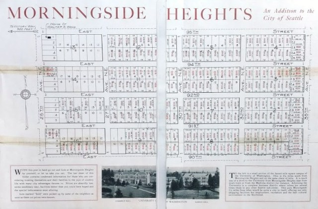 Morningside Heights real estate brochure of 1923.