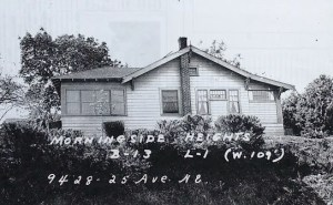 Walter Wood's house as it looked in 1937-1938, the year that all houses in King County were first photographed for the tax assessor's office. Photo courtesy of Puget Sound Regional Archives.