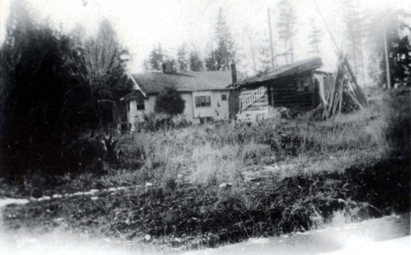 A 1934 photo showed the east side of the Conroy house with Mike Shea's shack next to it.  The photographer is standing in 35th Ave NE at NE 87th Street.
