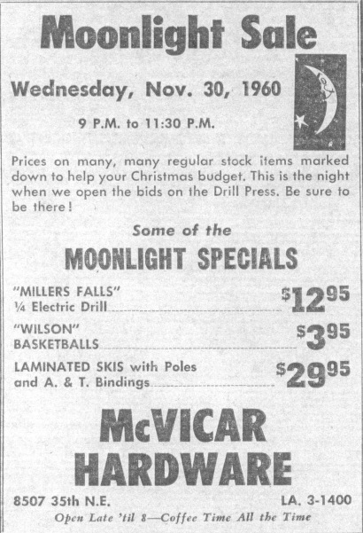 McVicar Hardware Moonlight sale