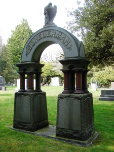 Scheuerman monument at Mt. Pleasant Cemetery in Seattle