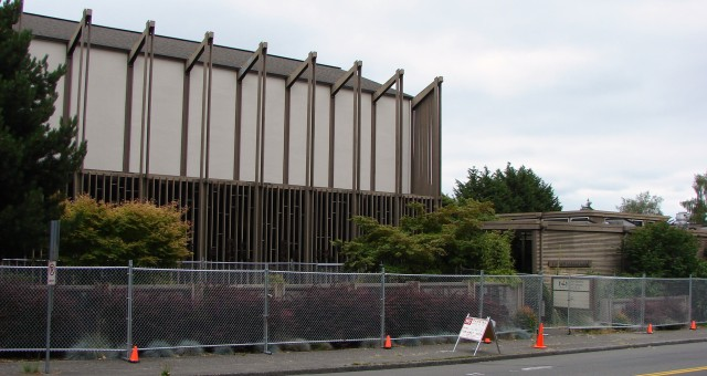 University Unitarian Church fenced for renovations.July 2018