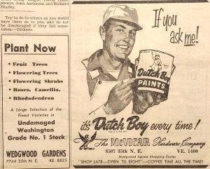 Wedgwood business ads.Echo newsletter of March 1956