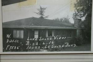 Frank and Mary Hammond built a house on Lake Washington at NE 100th Street in 1918.