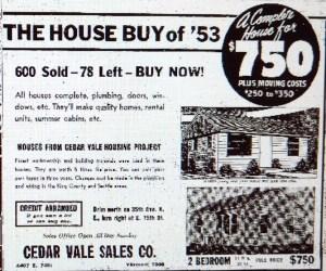 Cedar Vale sale ad of Feb 4 1953