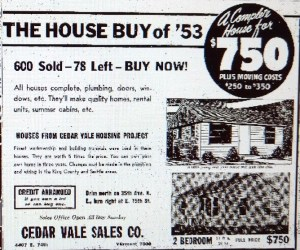 Cedar Vale sale ad of Feb 4 1953