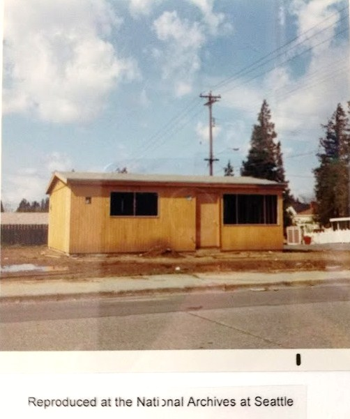 Apostol little house on 40th Ave NE.National Archives photo