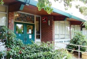 Decatur School front door