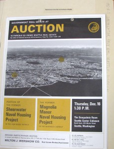 Government Real Estate Auction brochure of December 1965.National Archives of Seattle