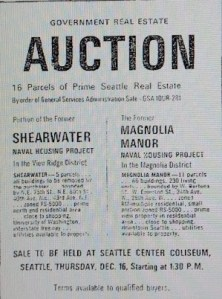 Shearwater auction notice.Seattle Times November 16 1965 page 22