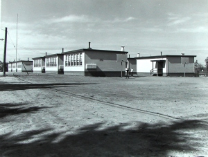 Wedgwood School opened in 1953 with all-portable classrooms while the permanent building was under construction.