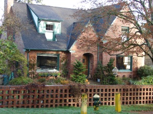 This brick Tudor house with fine detailing was built in 1932 for a young married couple in Wedgwood.