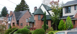 In Bryant near the Northeast Branch Library are many brick Tudor-style houses built around 1930.