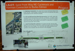Connections are being considered to get from the Burke-Gilman Trail across Sand Point Way to the Children's Hospital campus.