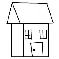 house stylized drawing