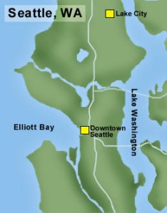 Lake City is the northeasternmost neighborhood of Seattle and did not come into the city limits until 1954.