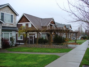 Homes now sit on the former playground site of Maple Leaf School along NE 100th Street.
