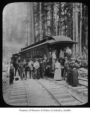 Seattle Lake Shore & Eastern Railroad opening, 1887. Image 2002.3.936, Museum of History & Industry, photo by Asahel Curtis.