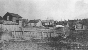 The Town of Yesler circa 1902, looking east along NE 42nd Street. Photo courtesy of History of Laurelhurst.