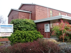 Wedgwood Presbyterian Church moved to 8008 35th Ave NE in 1948 and built this building.  The church was planted by First Presbyterian (downtown) whose workers came out to northeast Seattle to conduct Sunday schools.  Morningside Presbyterian started before 1915 and met first on 92nd, then on the corner of NE 95th & 35th before its move to the corner of NE 80th Street..