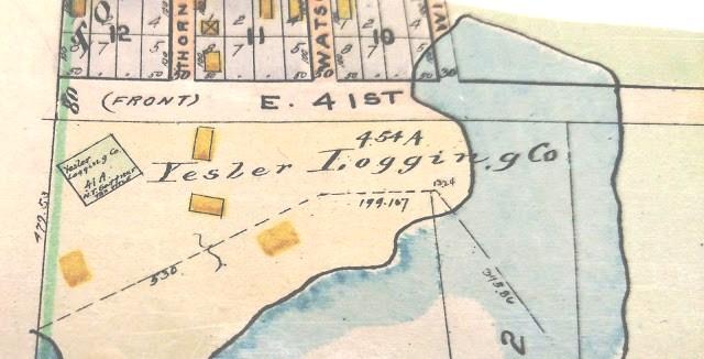 Yesler Logging Co.Baist Map 1908