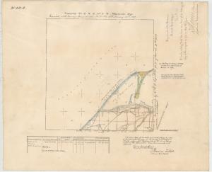 Survey of 1859 map, Dungeness, Clallam County. Bureau of Land Management survey records, Washington and Oregon.