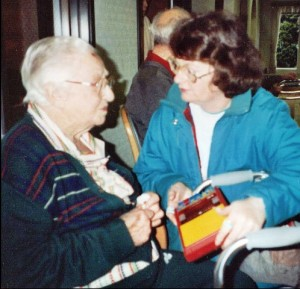 On May 1, 1993, Edith Fischer Carlson, age 94, told Valarie the story of what happened in 1902 when Edith, her mother and siblings were held hostage by bandit Harry Tracy in the kitchen of the Fischer farmhouse in Meadowbrook.