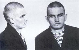 Harry Tracy prison mugshot of 1899.