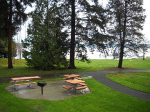 Matthew's Beach is on Lake Washington at NE 93rd Street.  In addition to the beach there are picnic and play areas overlooking  the water.