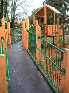 Play structure at Matthews Beach Park.