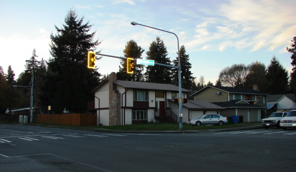 John Thornton's land claim was at the northwest corner of the intersection of 155th and Meridian Ave N, in today's Shoreline neighborhood.