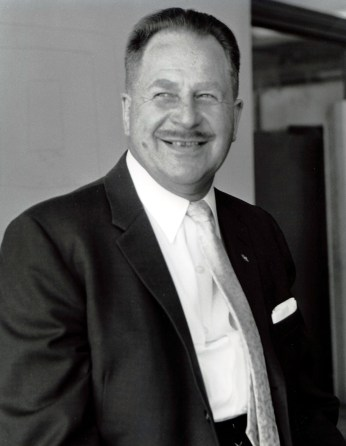 Albert Balch, Seattle Realtor, in 1961. Seattle Post-Intelligencer photo courtesy of MOHAI, Item 86.5