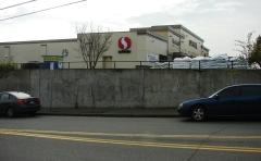 Safeway retaining wall on NE 75th Street