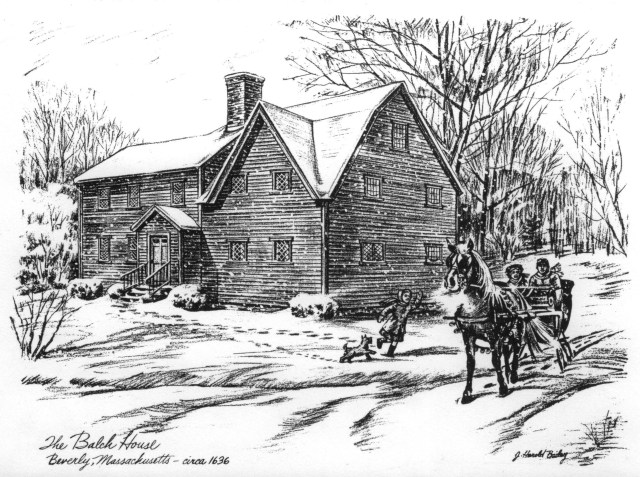 The John Balch House in Beverly, Massachusetts, is one of the oldest wood-frame houses in the USA.