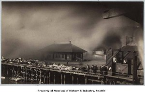 Great Seattle Fire of June 6 1889 waterfront photo.MOHAI Seattle Historical Society photo SHS708A