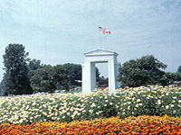 During his year at home in Blaine, Washington, Albert Balch helped organize the completion of the park grounds at the Peace Arch border crossing.