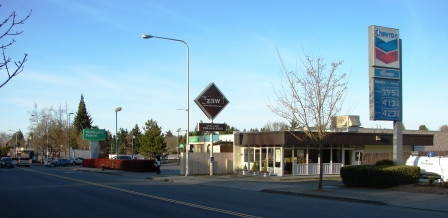 The Zaw Pizza building at 7320 35th Ave NE was built for Dairy Queen in 1964. Originally there were gas stations on both sides of the building.