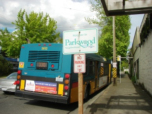 Parkwood sign on N. 155th Street