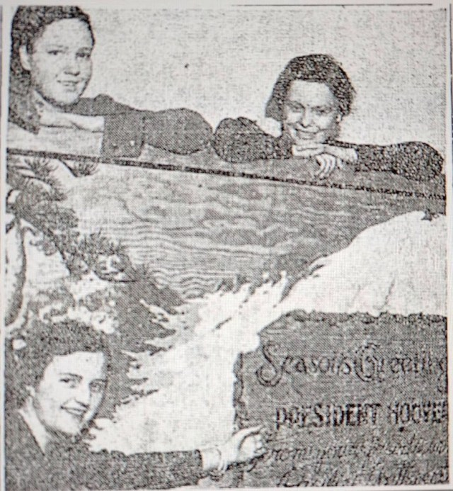 Seasons greetings.Seattle Daily Times 13 December 1931 page 12