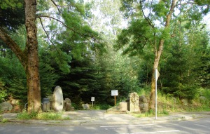The entrance to Meadowbrook Pond is marked by large rocks on 35th Ave NE at NE 107th Street.