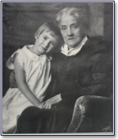 Mother Ryther with one of her children.