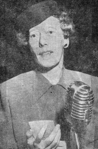 Ryther director Lillian Johnson at a speaking engagement in 1948. She spoke vividly of the children at Ryther and helped people understand the need of help for the children.