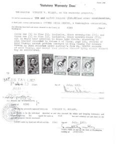 Ryther property deed of July 1953